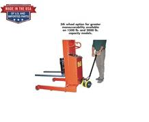 5th WHEEL STEERING OPTION FOR BATTERY POWERED PALLET STRADDLE & PLATFORM STACKERS